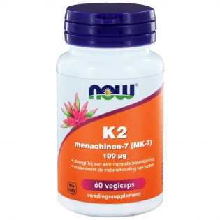 NOW Vitamine K2 Menachinon-7 (MK-7) 100 µg