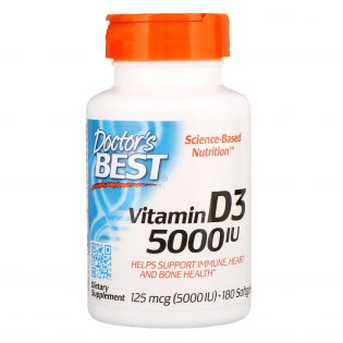 Doctor's Best Vitamine D3 5000IE 180 capsules